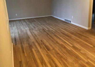 before hardwood floor refinishing